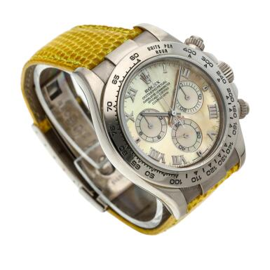 View 4. Thumbnail of Lot 209. Reference 116519 'Daytona Beach'  A white gold automatic chronograph wristwatch, Circa 2000.