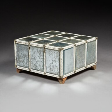 View 2. Thumbnail of Lot 137. A LARGE INDIAN MIRRORED AND ENGRAVED IVORY CASKET.