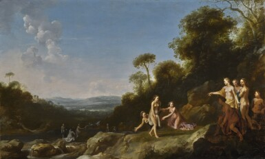 CIRCLE OF CORNELIUS VAN POELENBURGH | Diana and Callisto in a landscape