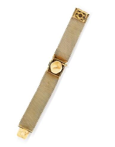 View 4. Thumbnail of Lot 68. Montre bracelet de dame or | Gold lady's bracelet watch.