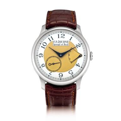 View 1. Thumbnail of Lot 2216. F.P. Journe | Chronomètre Souverain, A limited edition stainless steel wristwatch with power reserve indication, Circa 2015 | Chronomètre Souverain  限量版精鋼腕錶,備動力儲備顯示,約2015年製.