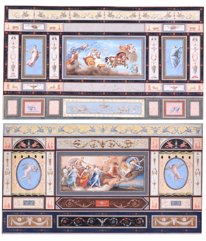 View full screen - View 1 of Lot 193. TOMASSO BIGATTI | CEILING FRESCOES DEPICTING AURORA AND APOLLO, CIRCA 1800, AFTER GUIDO RENI (1575-1642).