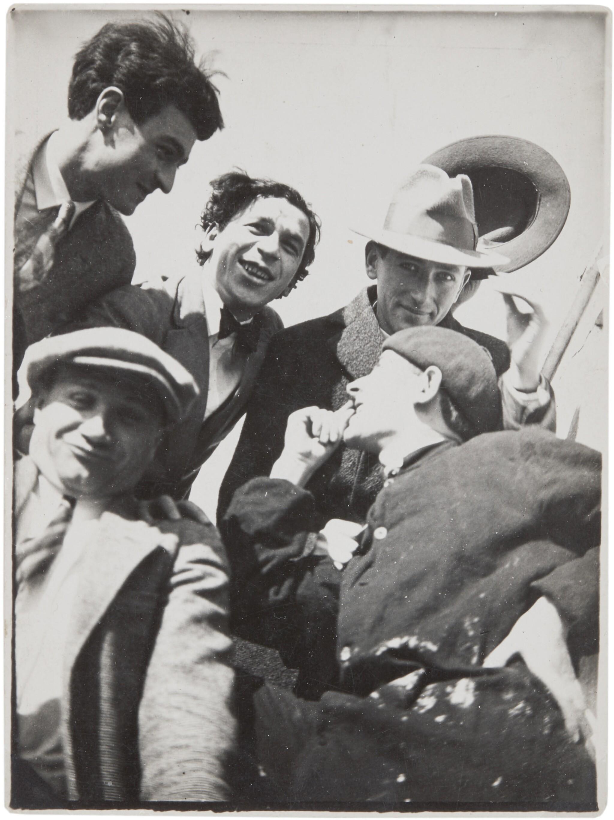 View full screen - View 1 of Lot 33.  T. LUX FEININGER   THE BAUHAUS BAND (HEINRICH KOCH, HERMANN CLEMENS RÖSELER, WERNER JACKSON, ALEXANDER 'XANTI' SCHAWINSKY, MARCEL BREUER).