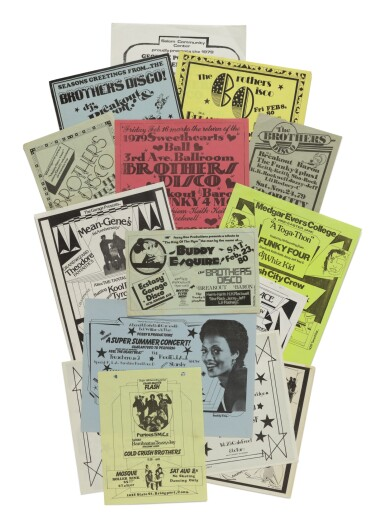 [BUDDY ESQUIRE]   Collection of 12 early Hip Hop flyers designed by Buddy Esquire. 1979-1983.