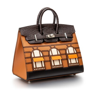 View 2. Thumbnail of Lot 8513. Limited Edition Birkin Faubourg 20cm in Madame, Matte Crocodile, Sombrero, Epsom and Swift Leather with Palladium Hardware, 2020.