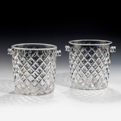 View 5. Thumbnail of Lot 99. A NEAR PAIR OF GLASS CHAMPAGNE BUCKETS, 20TH CENTURY.