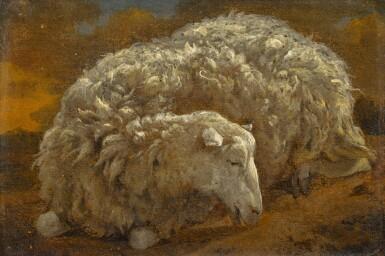 View 1. Thumbnail of Lot 164. Study of a sheep.