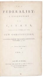 Hamilton, Alexander, James Madison, and John Jay | First edition of the most important work of American political thought