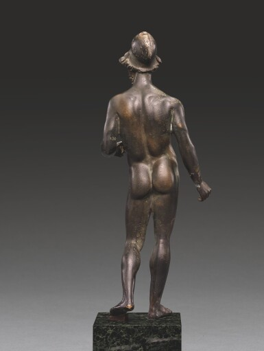 A BRONZE FIGURE OF ARES OR A HEROIC WARRIOR, LATE HELLENISTIC, CIRCA 1ST CENTURY B.C.