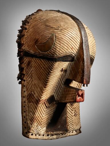 View 2. Thumbnail of Lot 77. Luba Mask, Democratic Republic of the Congo.