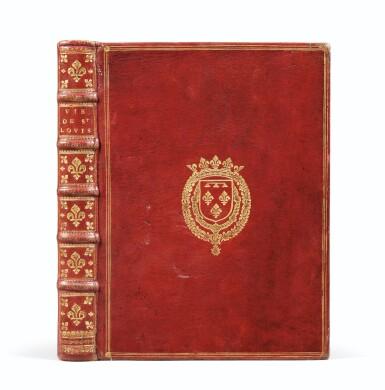 View 1. Thumbnail of Lot 9. La Vie de Saint-Louis. Paris, 1689. Exemplaire de présent aux armes du Régent. Edition originale..