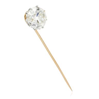 View 2. Thumbnail of Lot 11. Diamond stick pin, late 19th century.