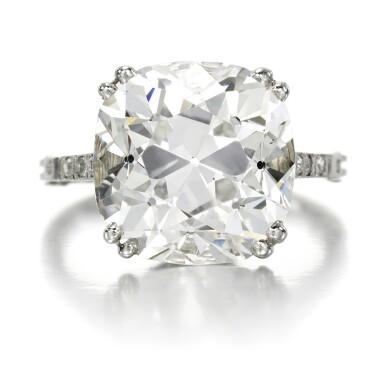 View 1. Thumbnail of Lot 39. Diamond ring, circa 1910.
