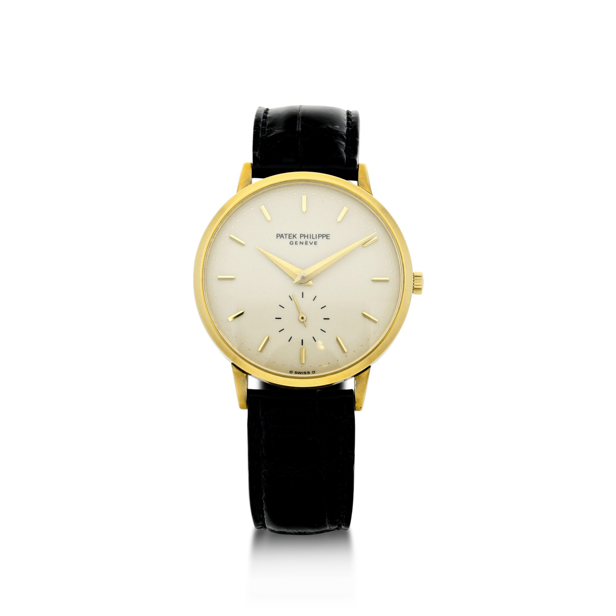 View full screen - View 1 of Lot 156. PATEK PHILIPPE | REFERENCE 3893  A YELLOW GOLD WRISTWATCH, MADE IN 1981.