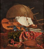 Still life with a globe and musical instruments