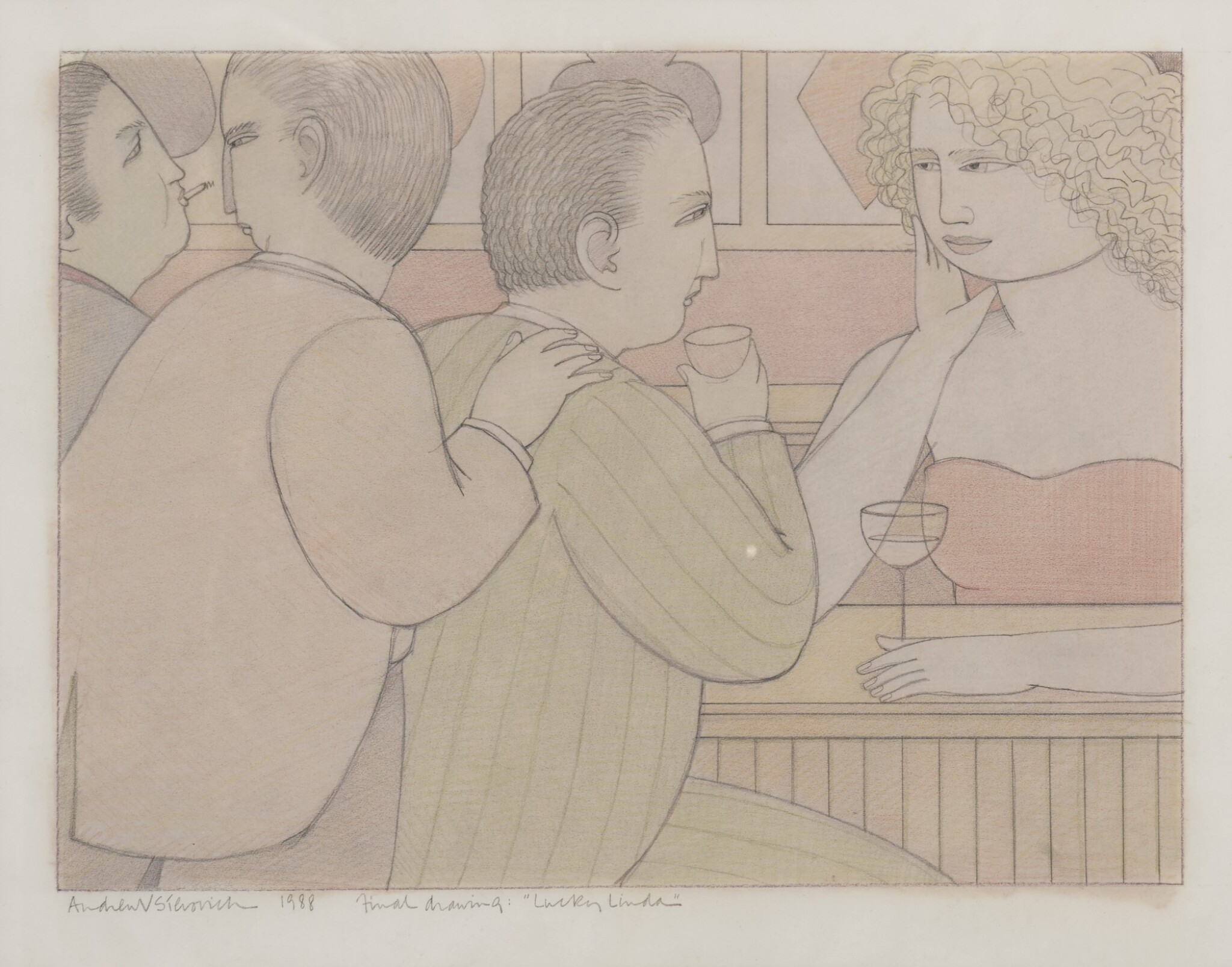 """View full screen - View 1 of Lot 1533. ANDREW V. STEVOVICH   FINAL DRAWING RE. """"LUCKY LINDA""""."""