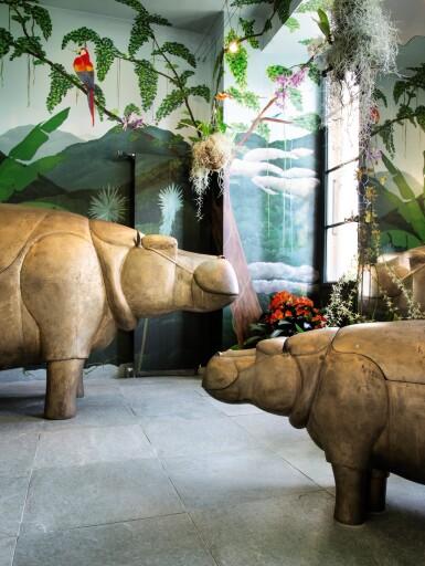 View 3. Thumbnail of Lot 115. FRANÇOIS-XAVIER LALANNE | UNIQUE FAMILLE HIPPOPOTAMES  [FAMILLE HIPPOPOTAMES, PIÈCE UNIQUE].