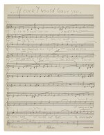 """Frederick Loewe. Autograph manuscript of the song 'If ever I would leave you' from """"Camelot"""", 1960s"""