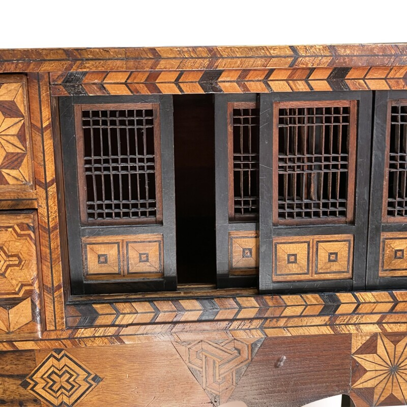 Japanese Shadona Marquetry Cabinet