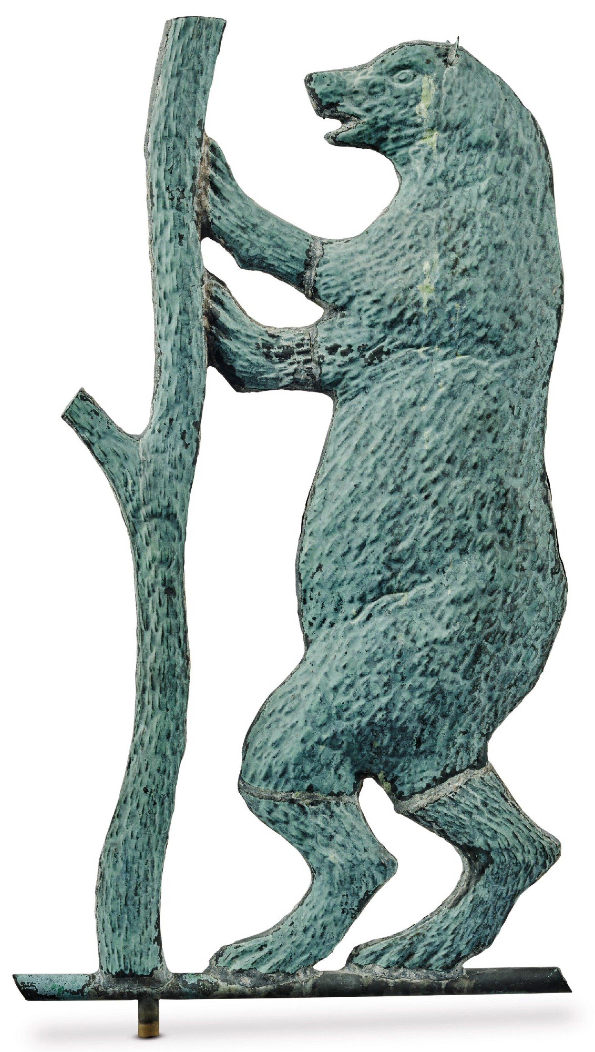 View full screen - View 1 of Lot 1470. VERY FINE AND RARE MOLDED SHEET-COPPER PERFORMING BEAR WEATHERVANE, J.L. MOTT IRON WORKS, NEW YORK AND CHICAGO, CIRCA 1886-92.