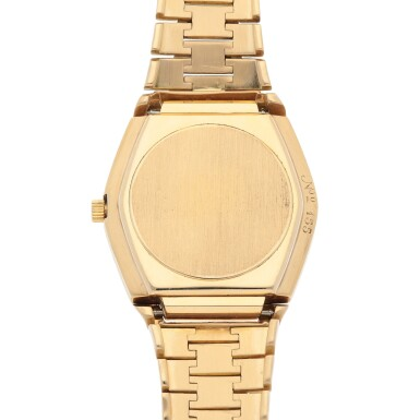 View 4. Thumbnail of Lot 428. 'The Texan' Quartz, Ref. 5100 BETA 21 Yellow gold wristwatch with date and bracelet Circa 1970   勞力士 5100 BETA 21型號「'The Texan' Quartz」黃金鍊帶腕錶備日期顯示,年份約1970.