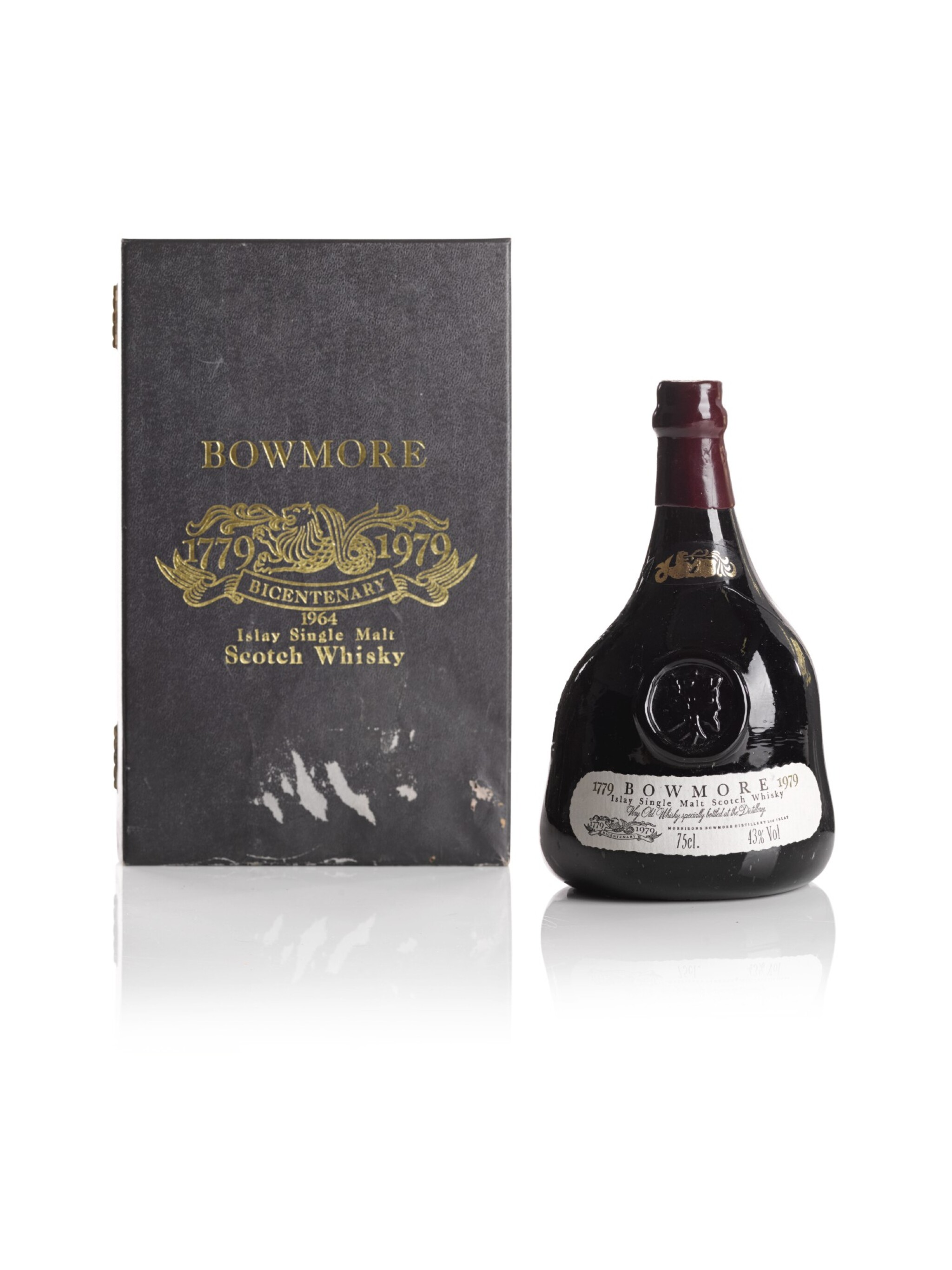 BOWMORE BICENTENARY 1779 TO 1979 43.0 ABV 1964