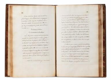 View 3. Thumbnail of Lot 203. COMPAGNIE DES INDES. Manuscrit. Traité du commerce, 1724. In-fol. maroquin rouge à dentelles de l'époque..