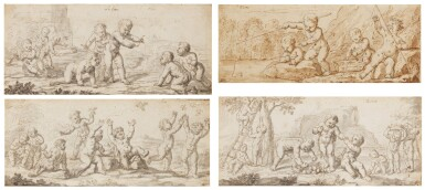 ENGLISH SCHOOL, LATE 17TH CENTURY | Four allegorical representations of the 'Elements'