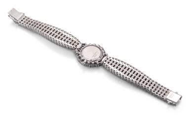 View 3. Thumbnail of Lot 1020. RARE AND POSSIBLY UNIQUE MANUALLY-WOUND DIAMOND WRISTWATCH, CHOPARD 罕有並可能獨一無二手動上鏈鑽石腕錶, 蕭邦 (Chopard) .