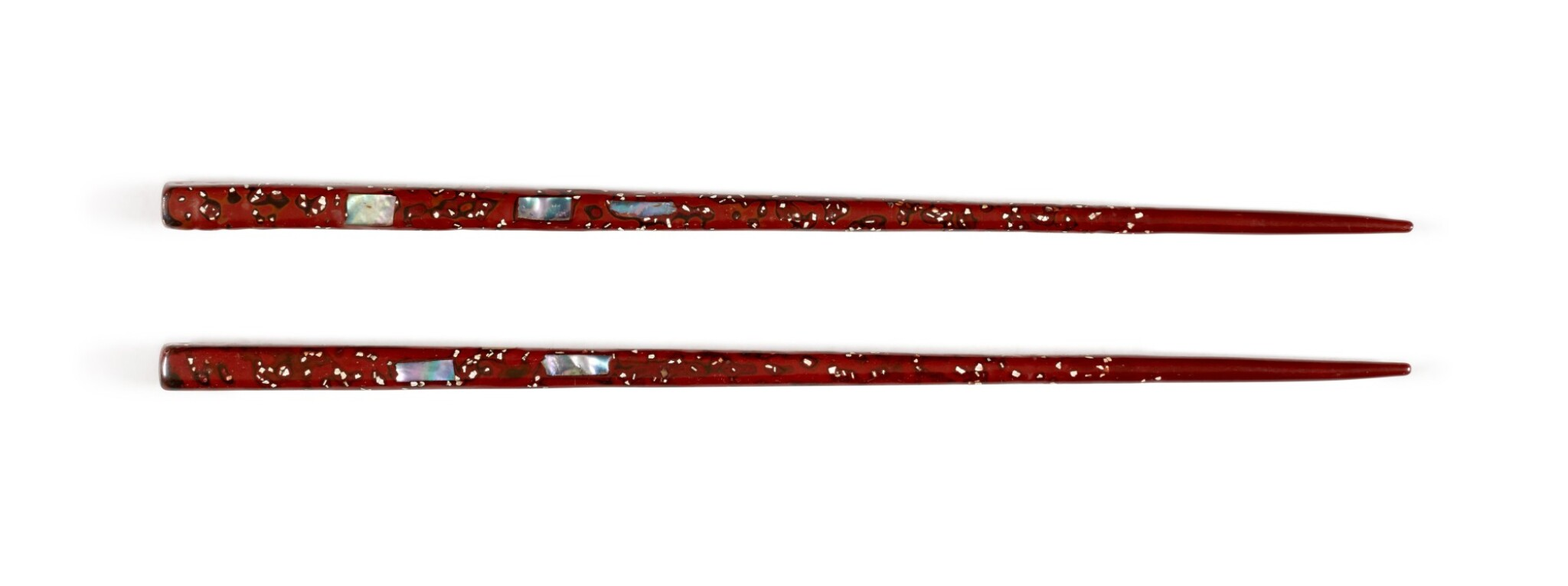 View full screen - View 1 of Lot 47. Lacquer chopsticks | Given to Sylvia Plath by Ted Hughes.