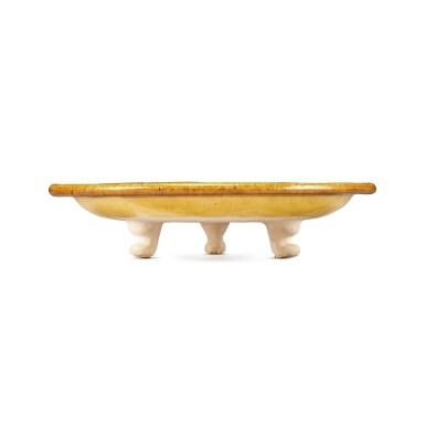 View 2. Thumbnail of Lot 173. A sancai and blue-glazed pottery tripod dish, Tang dynasty | 唐 三彩加藍寶相花紋三足盤.