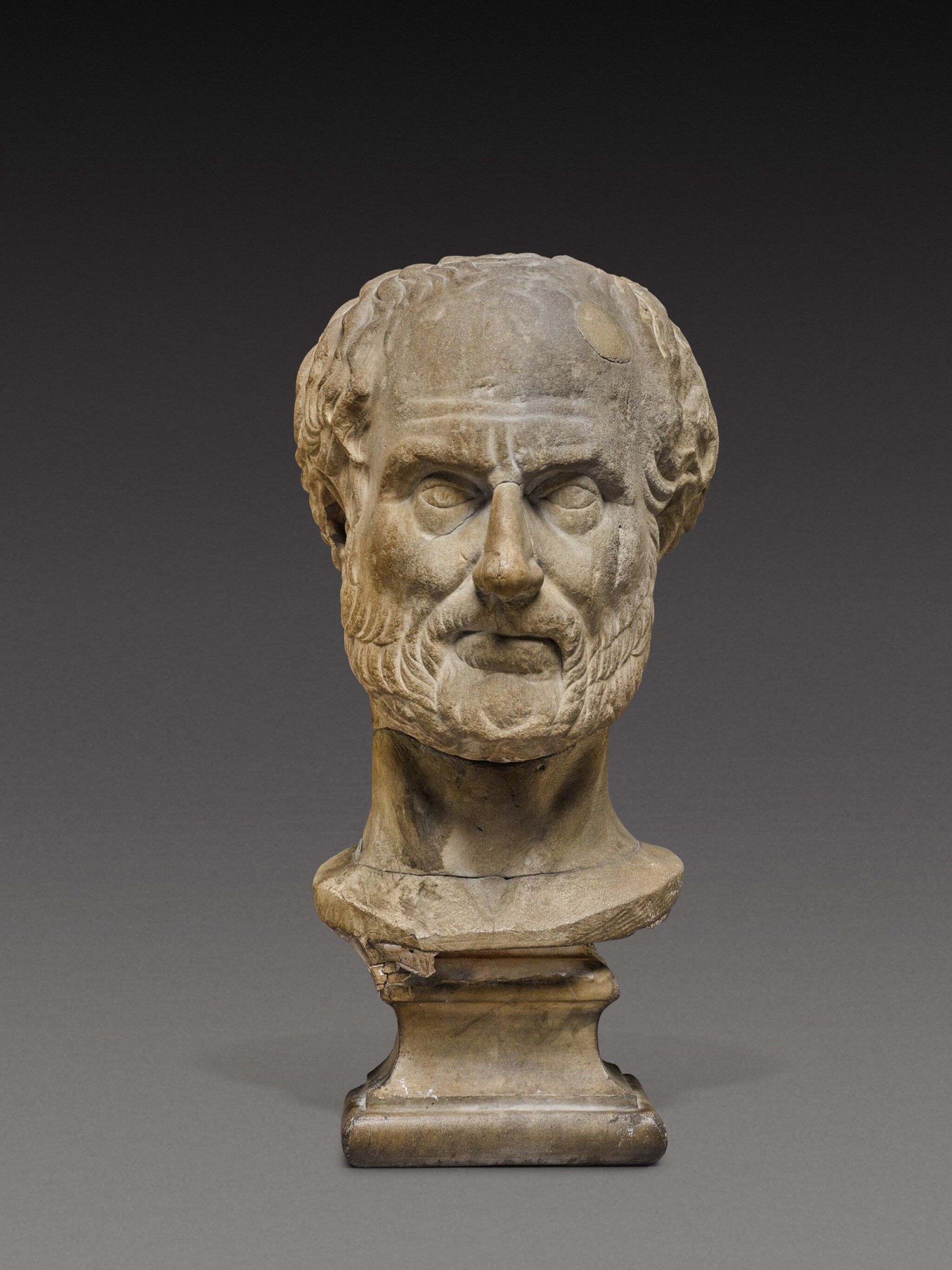 View 1 of Lot 85. A Roman Marble Portrait Head of a Man, probably Thucydides, 2nd Century A.D..