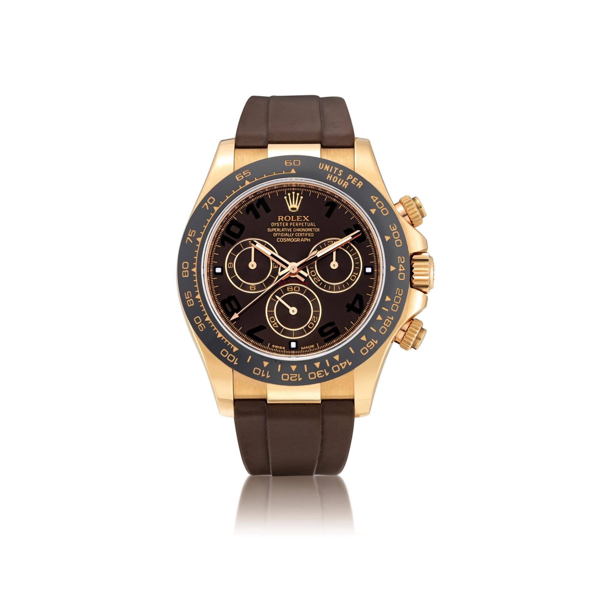 View full screen - View 1 of Lot 2010. Rolex | Cosmograph Daytona, Reference 116515LN, An Everose gold chronograph wristwatch, Circa 2015 | 勞力士 | Cosmograph Daytona 型號116515LN  永恆玫瑰金計時腕錶,約2015年製.