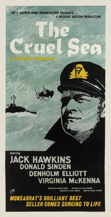 The Cruel Sea (1953) poster, British