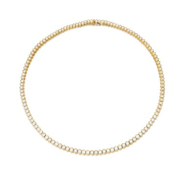 View 1. Thumbnail of Lot 98. Diamond necklace (Collana in diamanti).