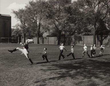 View 1. Thumbnail of Lot 1. Drum Major and Children, University of Michigan, Ann Arbor.