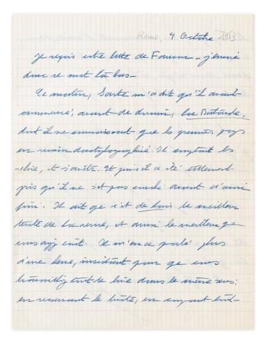 View 7. Thumbnail of Lot 120.  Importante correspondance à Violette Leduc dévoilant leur amitié littéraire. 297 lettres.