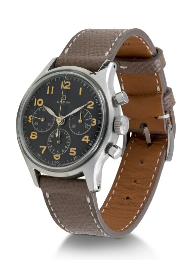 OMEGA | REF 2451 STAINLESS STEEL CHRONOGRAPH WRISTWATCH MADE FOR THE ARGENTINIAN AIR FORCE CIRCA 1941