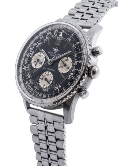 View 2. Thumbnail of Lot 83. BREITLING | NAVITIMER, REF 806 STAINLESS STEEL CHRONOGRAPH WRISTWATCH WITH BRACELET CIRCA 1960.