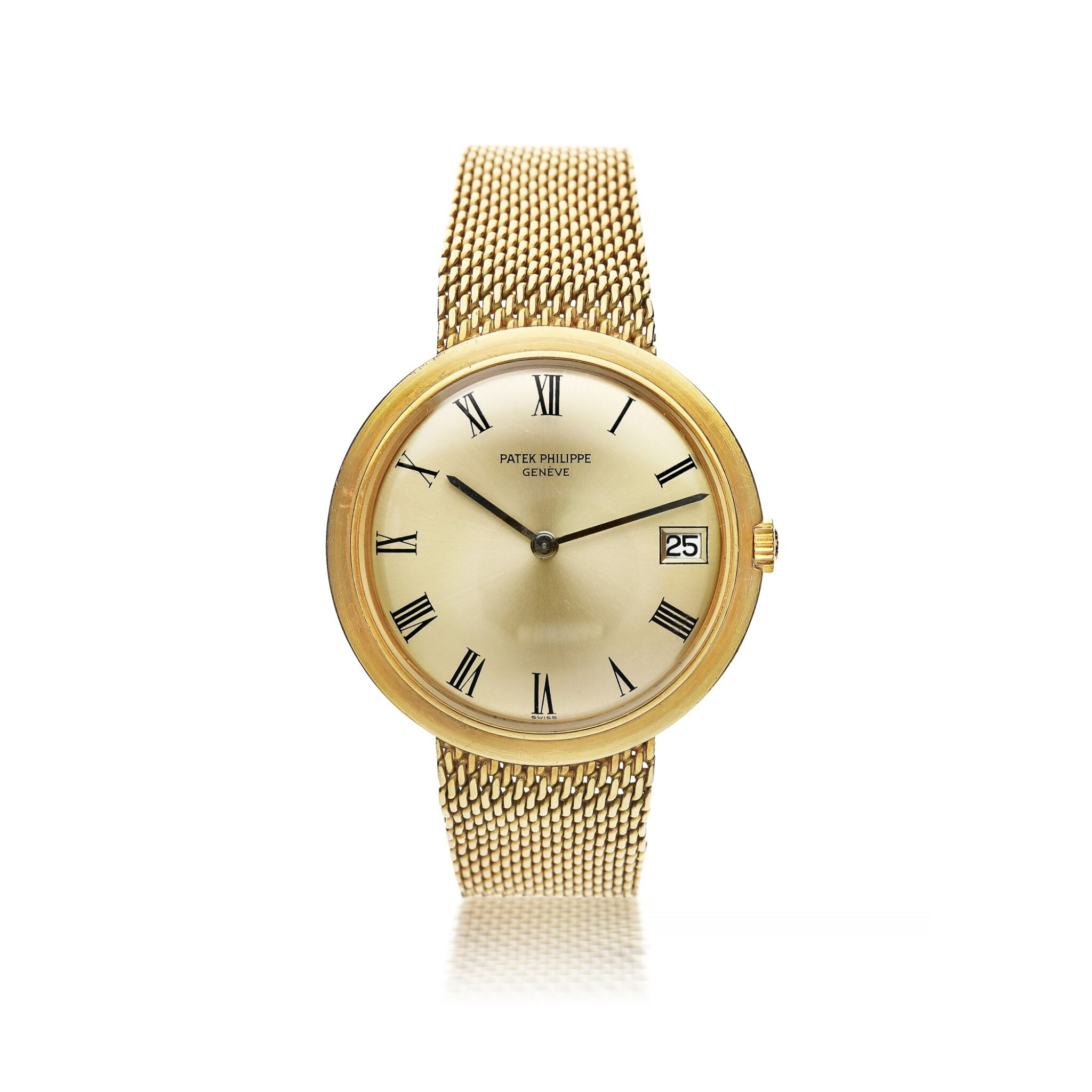 View full screen - View 1 of Lot 135. PATEK PHILIPPE  |  REFERENCE 3565/1 'IOS' A YELLOW GOLD AUTOMATIC BRACELET WATCH WITH DATE, MADE IN 1968.