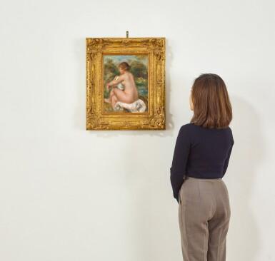 View 3. Thumbnail of Lot 1042. Pierre-Auguste Renoir 皮耶・奧古斯特・雷諾瓦 | La Baigneuse assise 沐浴的少女.