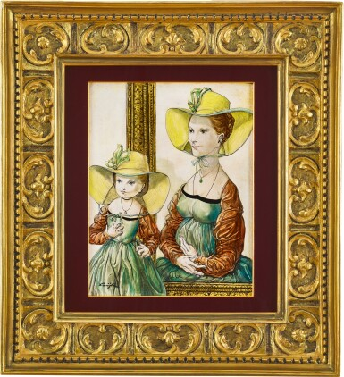 View 1. Thumbnail of Lot 1041. Léonard Tsuguharu Foujita 藤田嗣治   Le chapeau de sa maman 媽媽的禮帽.