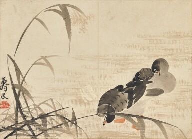 View 3. Thumbnail of Lot 2527. Bian Shoumin 1684-1752 邊壽民   Geese 蘆雁.