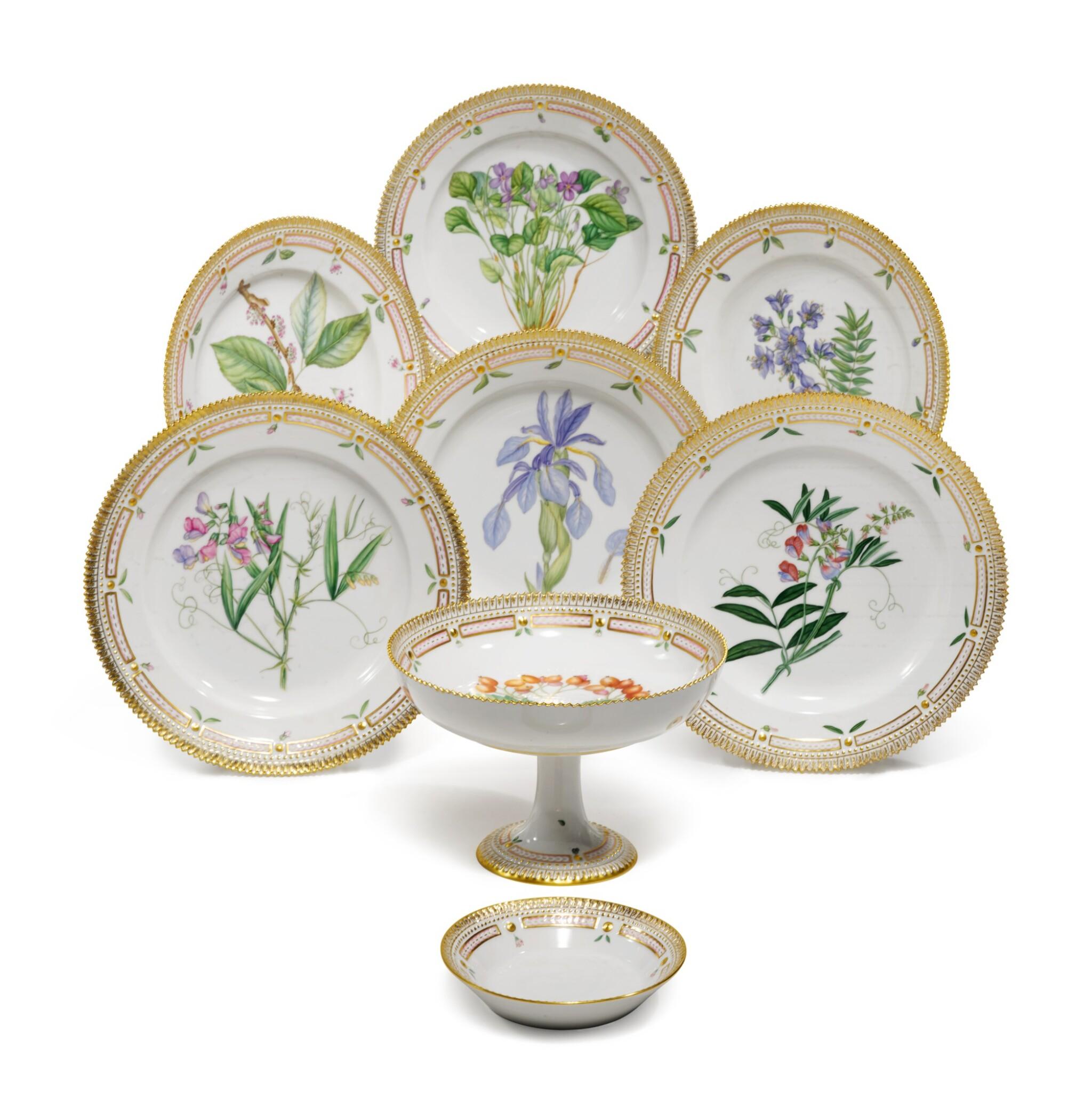 View full screen - View 1 of Lot 87. A Set of Six Royal Copenhagen 'Flora Danica' Dinner Plates, Modern.