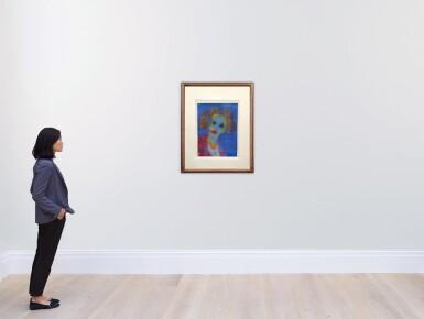 View 4. Thumbnail of Lot 212. EMIL NOLDE | FRAUENKOPF (BLAUER GRUND) (HEAD OF A WOMAN (BLUE GROUND)).