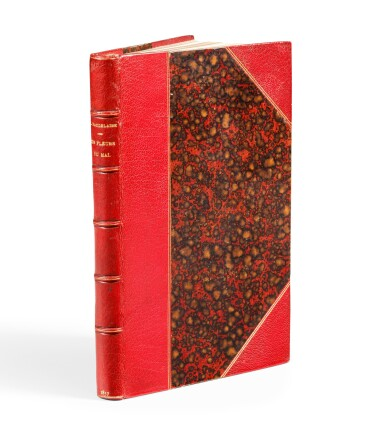 View 3. Thumbnail of Lot 67. Les fleurs du mal. 1857. Envoi à J. Leman. Un des 15 ex. connus relié à l'ép. avec envoi. Corrections aut..