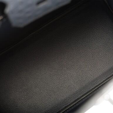 View 8. Thumbnail of Lot 2. Hermès Bleu Indigo Birkin 30cm of Ostrich with Palladium Hardware.