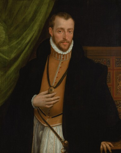 VENETIAN SCHOOL, 16TH CENTURY | Portrait of a gentleman, half-length, in a golden doublet