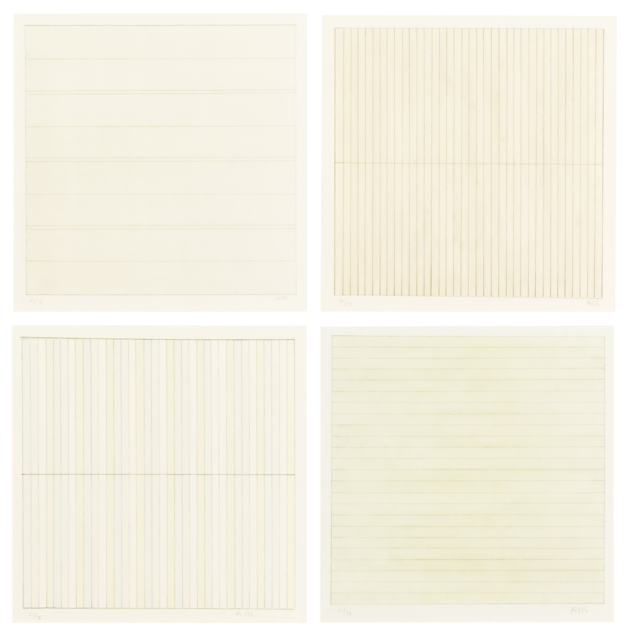View full screen - View 1 of Lot 63. AGNES MARTIN    UNTITLED.