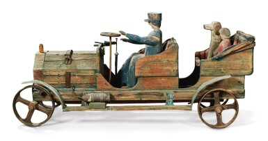 View 2. Thumbnail of Lot 1492. VERY RARE LOCOMOBILE AND PASSENGERS SCULPTURE, CIRCA 1925.